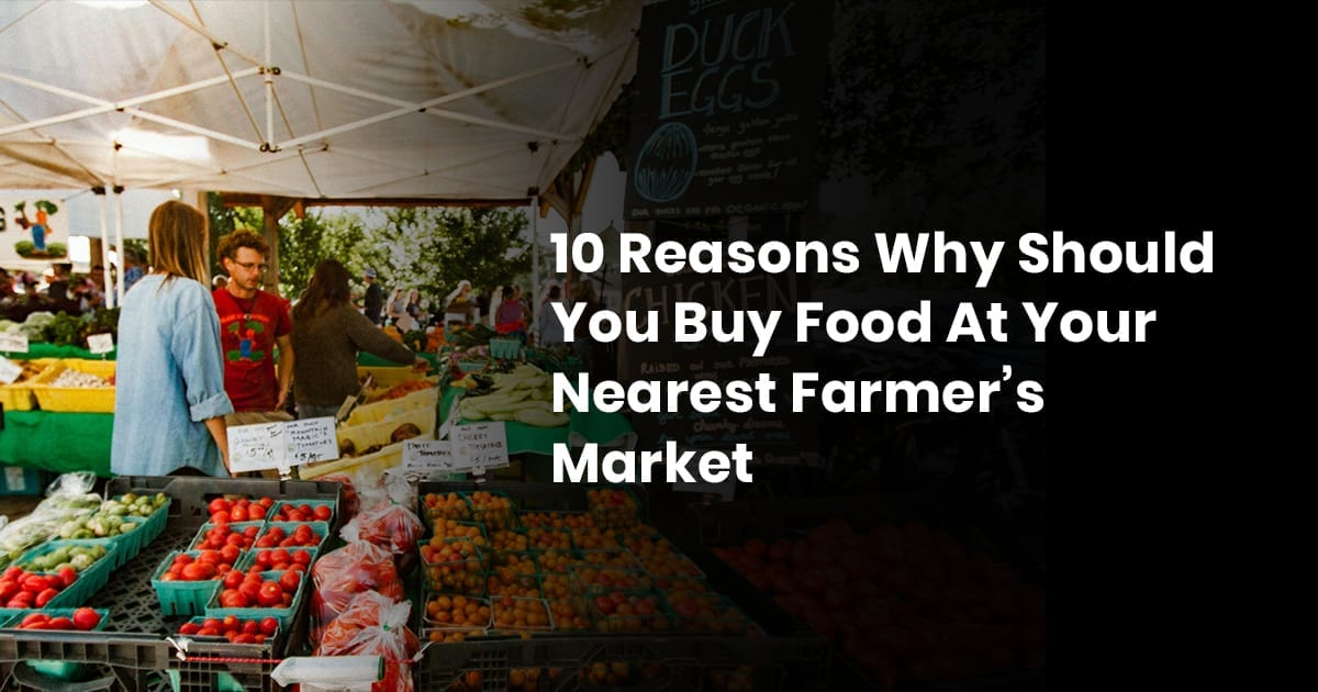 10 Reasons Why You Should Buy Food At Your Nearest Farmers Market