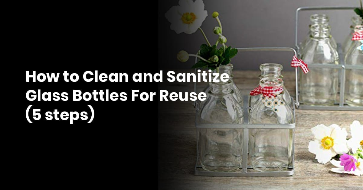 18 How to Clean and Sanitize Glass Bottles For Reuse XX steps