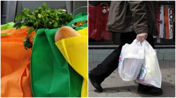 Two Types Of Grocery Bags
