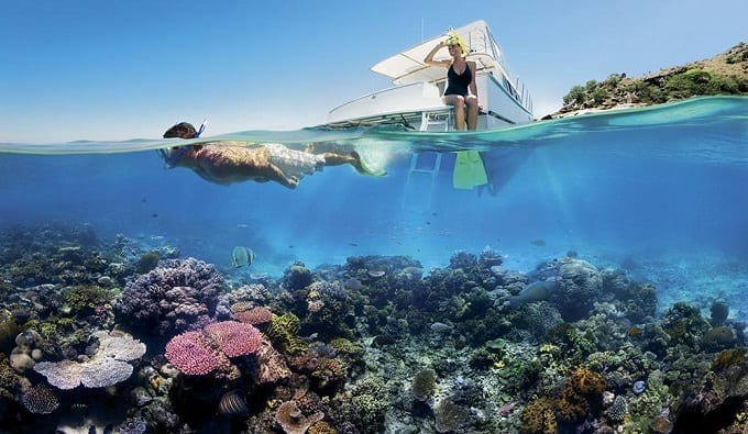 Diving Near Coral Reef
