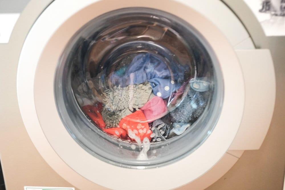 Diapers washing