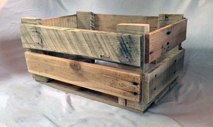 Wooden Pallet Storage Bin