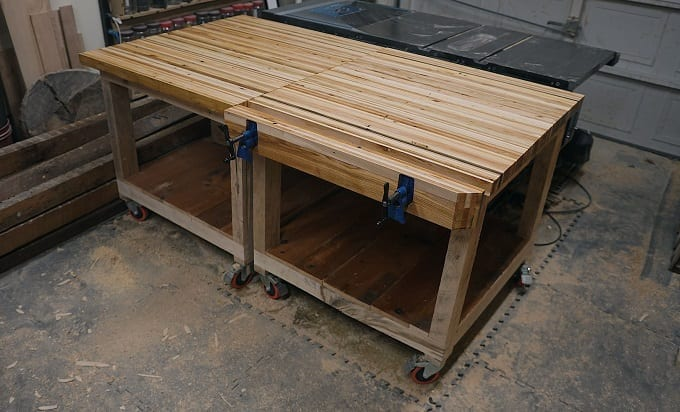 Wooden Pallet Workbench