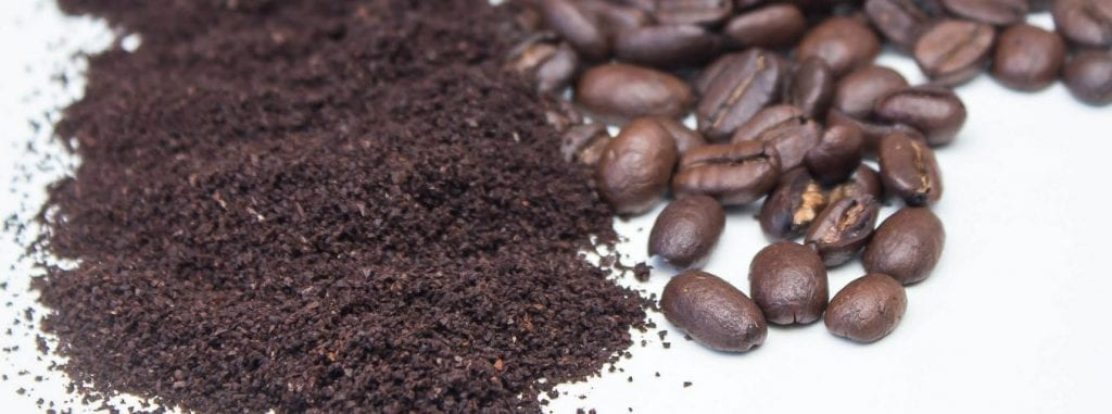 using compost coffee grounds