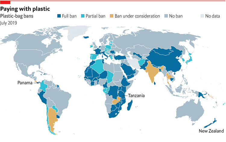 Countries That Ban Plastic Bags